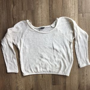 Topshop Cropped White Sweater